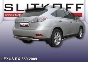 LEXUS RX-350 (2009)-Защита заднего бампера d57+d57 двойная